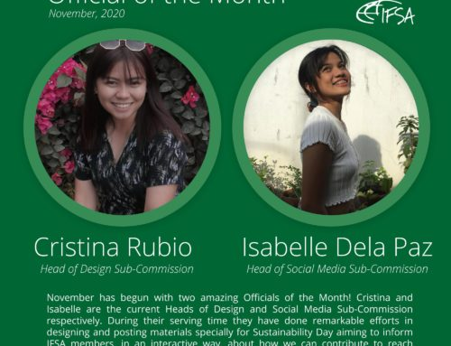 Official of the Month November 2020: Cristina Rubio & Isabelle Claire