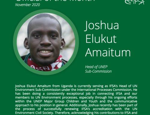 Official of the Month November 2020: Joshua Amaitum