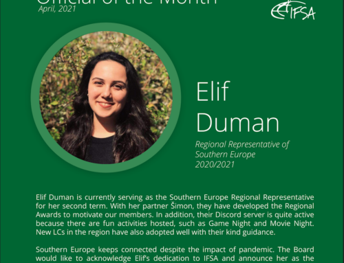 Official of the Month April 2021: Elif Duman